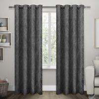 Exclusive Home Twig 84-Inch Room -Darkening Grommet Top Window Curtain Panel Pair in Charcoal