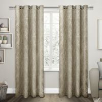Exclusive Home Twig 84-Inch Room -Darkening Grommet Top Window Curtain Panel Pair in Taupe