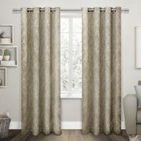 Exclusive Home Twig 84-Inch Room -Darkening Grommet Top Window Curtain Panel Pair in Taupe