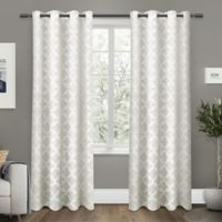 Exclusive Home Cartago 84-Inch Room-Darkening Grommet Top Window Curtain Panel Pair in Vanilla