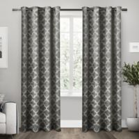 Exclusive Home Cartago 84-Inch Room-Darkening Grommet Top Window Curtain Panel Pair in Black Pearl