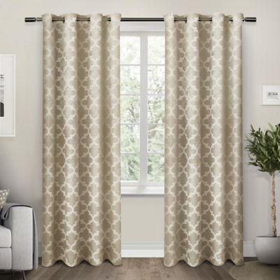 Exclusive Home Cartago 84 Inch Room Darkening Grommet Top Window Curtain Panel Pair In