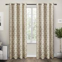 Exclusive Home Cartago 84-Inch Room-Darkening Grommet Top Window Curtain Panel Pair in Taupe