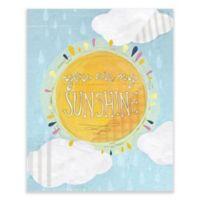 "GreenBox Art Yellow Button Studio 28-Inch x 35-Inch ""You Are My Sunshine"" Wheatpaste Wall Art"