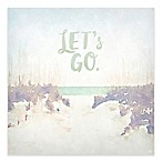 "GreenBox Art ""Let's Go"" 18-Inch x 18-Inch Wheatpaste Wall Art"