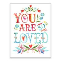 "Greenbox Art Katie Daisy 18-Inch x 24-Inch ""You Are So Loved"" Wheatpaste Poster"