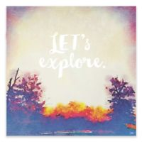 "Greenbox Art Rachel Mosley 54-Inch x 54-Inch ""Let's Explore"" Wheatpaste Poster"