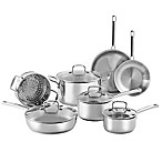 SALT® 11-Piece Stainless Steel Cookware Set