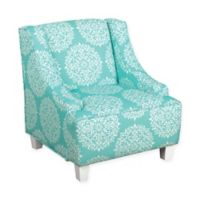 KinFine HomePop Medallion Accent Chair in Aqua