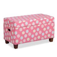 HomePop Juvenile Storage Bench in Pink