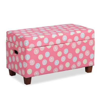 Charmant HomePop Juvenile Storage Bench In Pink