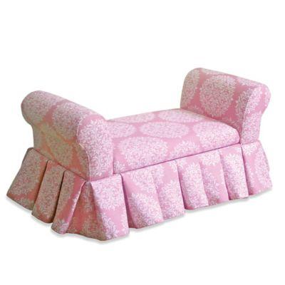 Kidsu0027 Storage Bench/Settee In Pink