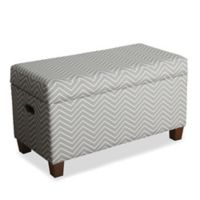 KinFine HomePop Cameron Storage Bench in Chevron Grey
