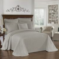 Historic Charleston Collection Matelasse King Coverlet in Grey