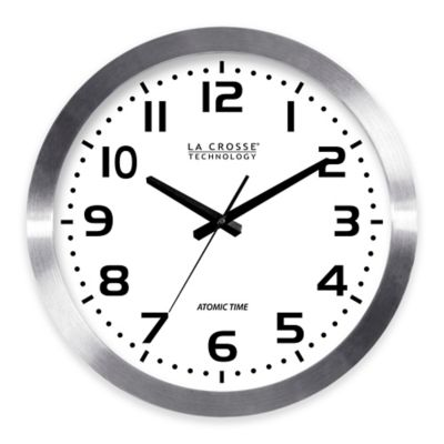 La Crosse 16 Inch Atomic Metal Wall Clock. Buy Bathroom Clocks from Bed Bath   Beyond