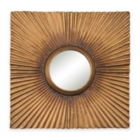Sterling Industries 16.2-Inch Square Panel Wall Mirror in Aged Gold