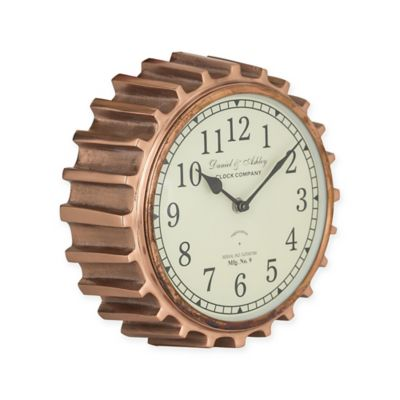 Superieur Sterling Industries Aged Copper Clock