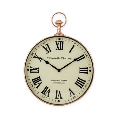 sterling industries wall clock in polished copper
