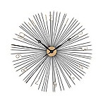Sterling Industries Shockfront Wall Clock in Black/Gold