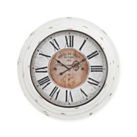 Sterling Industries Theodore Wall Clock in Antique White
