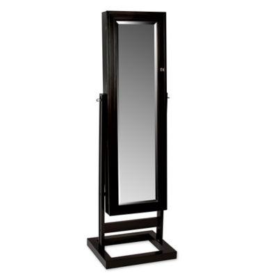 verona mirrored jewelry armoire in java