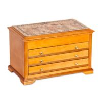 Mele & Co. Lynnhurst Wooden Jewelry Box in Oak