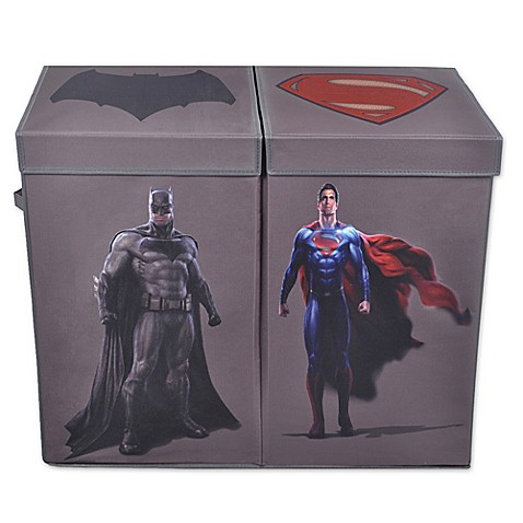 Batman vs superman double laundry hamper bed bath beyond - Superhero laundry hamper ...