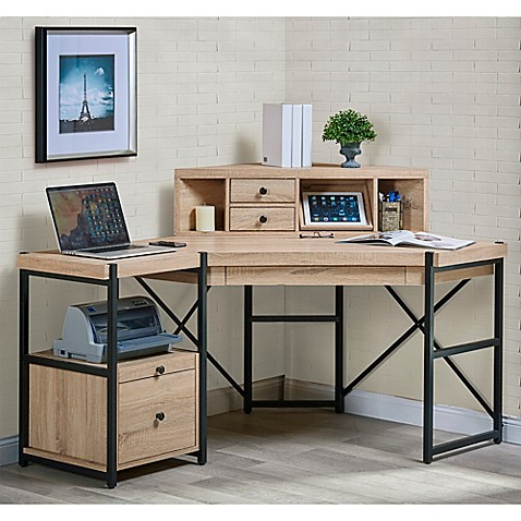 Turnkey Emery 2 Piece 61 Inch Writing Desk With Hutch In