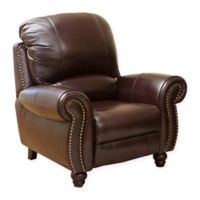Abbyson Living® Charlotte Leather Recliner in Burgundy