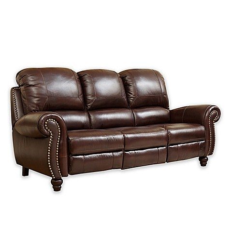 leather sofa charlotte nc abbyson living 174 leather sofa in burgundy bed 6892