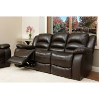 Abbyson Living® Providence Leather Sofa in Brown