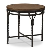 Austin Round End Table in Antique Bronze