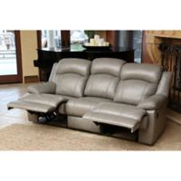 Abbyson Living® Warwick Reclining Sofa in Grey