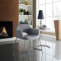 Modway Cordelia Dining Arm Chair in Grey