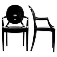 Modway Casper Dining Arm Chairs in Black (Set of 2)