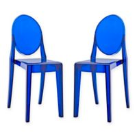 Modway Casper Dining Side Chairs in Blue (Set of 2)