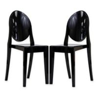 Modway Casper Dining Side Chairs in Black (Set of 2)