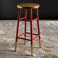Safavieh Emery Barstool in Red/Gold