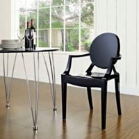 Modway Casper Dining Arm Chair in Black