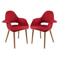Modway Aegis Dining Armchair in Red (Set of 2)