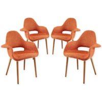Modway Aegis Dining Armchair in Orange (Set of 2)