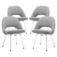 Modway Cordelia Dining Chairs in Light Grey (Set of 4)
