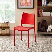 Modway Hipster Dining Side Chair in Red
