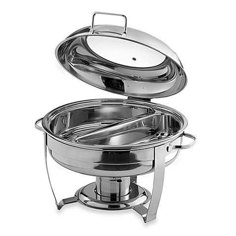 round 6-quart divided chafing dish - bed bath & beyond
