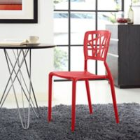 Modway Astro Dining Side Chair in Red