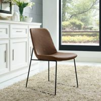 Modway Invite Dining Side Chair in Brown