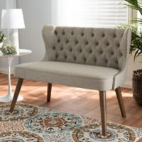 Wholesale Interiors Inc. Scarlett Loveseat in Brown/Beige