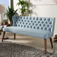 Wholesale Interiors Inc. Scarlett Upholstered Button-Tufted Sofa in Blue