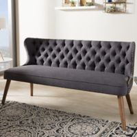 Wholesale Interiors Inc. Scarlett Upholstered Button-Tufted Sofa in Grey