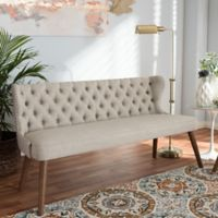 Wholesale Interiors Inc. Scarlett Upholstered Button-Tufted Sofa in Beige